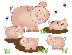 Barnyard Pig Mural Wall Art Decal Baby Farm Animal Nursery Kids Stickers Decor #Handmade