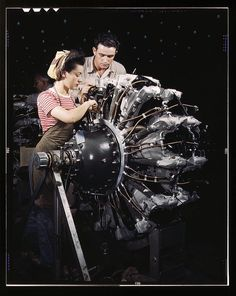 19 Amazing Photos Of Female Riveters During WWII - My grandmother was a Riveter who worked on planes in the San Francisco Bay Area Air Base.... She also rode a motorcycle while she was at it, seems that passions do run in the family;)