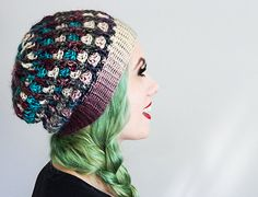 Crochet pattern for the Granny on the Ridge Slouchy Beanie by Frenchie Leigh. This listing is for the PATTERN only, not a finished product. SKILL LEVEL: INTERMEDIATE (this it NOT a beginner pattern)  • Written in American Standard crochet terms • Pattern is written for Teen/Adult women sizing • Requires prior knowledge of basic crochet stitches. Any special stitches will be noted in the pattern. • Uses 5.5mm hook and approx. 250yds thin worsted yarn (ie: Caron Simply Soft or Red Heart…