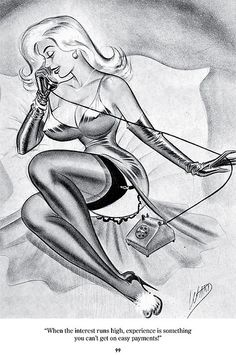 The Pin-Up Art of Bill Ward, ed. by Alex Chun & Jacob Covey - page 99 by fantagraphics, via Flickr