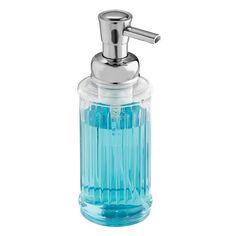 Amazon.com: InterDesign Ella Foaming Soap Dispenser Pump, for Kitchen or Bathroom Countertops - Clear/Chrome: Home & Kitchen