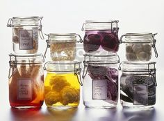 Halloween Specimen Jars Using Vegetables