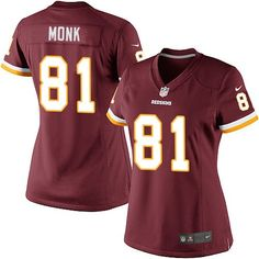 Nike Limited Art Monk Burgundy Red Women's Jersey - Washington Redskins #81 NFL Home