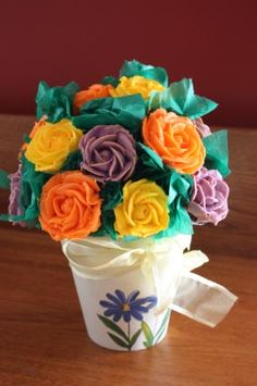 mini cupcake flower pots!