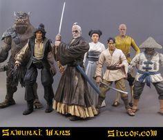 Star Wars samurai figures
