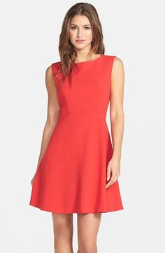 Free shipping and returns on French Connection 'Feather Ruth' Fit & Flare Dress at Nordstrom.com. A refined stretch-woven dress is topped with an elegant bateau neckline, fitted with darts at the inset waist and then flared to a flirty full-circle skirt.