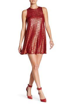 Sleeveless Knit Trapeze Dress