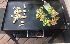 Teriyaki Chicken Stir Fry on the Blackstone Griddle - My Backyard Life Chicken Teriyaki Sauce, Homemade Teriyaki Sauce, Chicken Stir Fry, How To Cook Chicken, Hibatchi Recipes, Stir Fry Recipes, Stones Recipe, Griddle Recipes, Blackstone Griddle