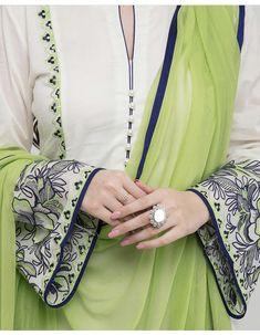 Neck Designs For Suits, Sleeves Designs For Dresses, Dress Neck Designs, Embroidery Suits Punjabi, Embroidery Suits Design, Embroidery Fashion, Ladies Kurti Design, Kurta Designs Women, Fancy Dress Design