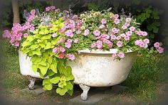Flower Garden Bathtub