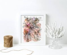 Watercolour Floral Print, Tropical Foliage Print, Watercolour Print, Abstract Watercolour Print, Wall Decor, Modern Art, Gallery Wall Abstract Watercolor, Watercolor And Ink, Modern Art, Contemporary Art, Watercolours, Giclee Print, Gallery Wall, Floral Prints, Tropical