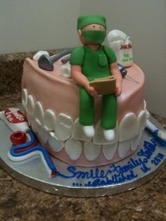 Perfect cake for dentists! #deltadental