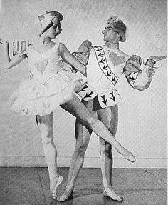 """Lubov Roudenko and Igor Youskevitch in Ballet Russes de Monte Carlo revival of Stravinsky/ Balanchine's """"The Card Party"""" c. 1935."""