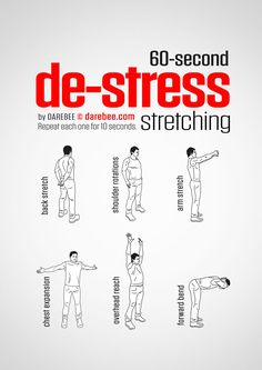 De-Stress Stretching workout.