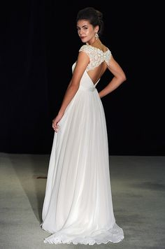 Stunning beaded wedding dress by Anne Barge, Fall 2014