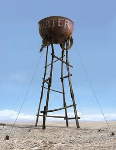Don't know where this is located but it looked too interesting not to add to this board collection of water towers, roadside attractions, weird buildings and Rt. Candle In The Wind, Roadside Attractions, Water Tower, Land Art, Dark Fantasy, Lighthouse, Concept Art, Street Art, Sculptures