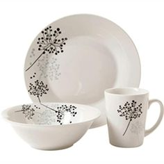 Gibson Netherwood Floral Porcelain 12-piece Dinnerware Set (Service for 4) - Free Shipping On Orders Over $45 - Overstock - 19737081
