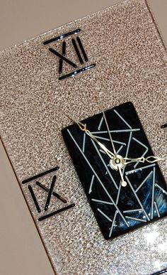 Fused Glass Retro Clock