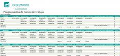 Plantilla de programación de turnos de trabajo en Excel