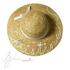 Christine is ready for summer. Are you? 👒🌞🌊🌴 #beachhats #handmade #customizable #beachaccessories #musthaves #beach #summer #hats ##onasunnyday #funinthesun #crochet #calligraphy #thread #yarn #needle #fortheloveofhandmade #Bymee #bymeecreations #beirut #lebanon