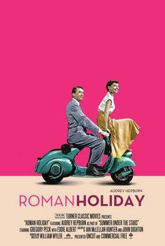 """Escena de El Recorrido inverso: """". Hey, yo estaba pensando en que estoy tirado en mi cama en una bata de baño y nada más, viendo Vacaciones en Roma"""", dijo. """"Se supone que significa algo? ¿Qué hay Vacaciones en Roma?"""" ¡Huy! Era Nick. """"No se nada. Sólo viendo una vieja película y cansados después de una especie de día de locos."""""""