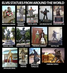 Elvis Statues From Around The World (is it just or... or are the best onesin The South?) @Emanuela Coppola Bascon Presley