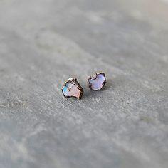 Raw Opal Stud Earrings
