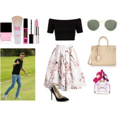 Day with Liam by veronica-love-one-direction on Polyvore featuring Miss Selfridge, Yves Saint Laurent, Ray-Ban, Maybelline, Marc Jacobs, Butter London and Payne