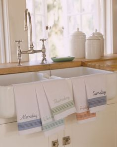 100% cotton flour sack tea towels for drying glasses, wiping down the stove, letting dishes dip dry on them.