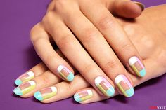 DIY This Pretty Pastel Mani - from teenvogue.com, photos by Mark...