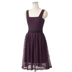 Melonie Lace Fit and Flare Dress $60