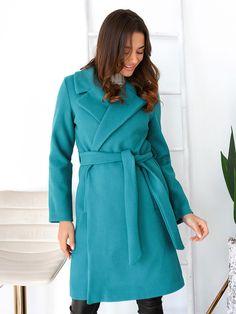 Παλτό Με Ζώνη Και Τσέπες Βεραμάν - Irish Coffee Irish Coffee, Kai, Coats, Fashion, Dress, Moda, Wraps, Fashion Styles, Coat