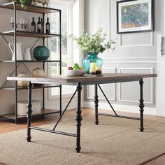 TRIBECCA HOME Nelson Industrial Modern Metal Dining Table - 16558379 - Overstock.com Shopping - Great Deals on INSPIRE Q Dining Tables