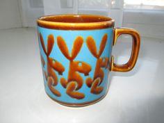 Vintage Retro 1970s Hornsea Pottery Rabbits Mug - John Clappison Design