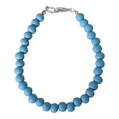 Armband Simply Wood Zilver - Light Blue Fog