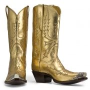 I would imagine that Elvis or Bjork or Billy the Kid would wear this pair. So decadent and well, shiny. I would personally wear this while riding on a unicorn. Under a rainbow.