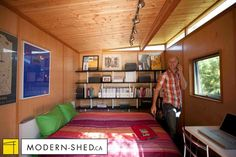 Modern-Shed - Extra bedroom for guests Contemporary Sheds, Modern Shed, Studio Shed, Extra Bedroom, Building Structure, Home Projects, Home Office, Home And Garden, New Homes