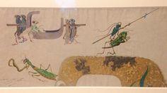 """""""Avec un bel ensemble des dessins d'Emile #Gallé et de son atelier @MuseeOrsay #artnouveau #drawing #animal"""""""