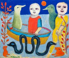 Our database has art auction market prices for Mirka Madeleine Mora, Australia and other Australian and New Zealand artists covering the last 40 years sales. Australian Painting, Australian Art, Good Morning Angel, Snake Art, Soft Sculpture, Art Auction, Art Lessons, Oil On Canvas, Contemporary Art