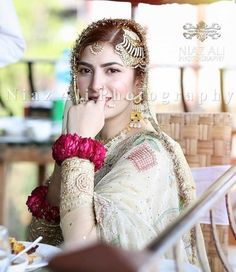 You are in the right place about Bridal Outfit 2018 Here we offer you the most beautiful pictures about the unique Bridal Outfit you are looking for. When you examine the part of the picture you can g Nikkah Dress, Pakistani Wedding Dresses, Pakistani Dress Design, Perfect Bride, Beautiful Bride, Muslim Wedding Ceremony, Elegant White Dress, Bridal Poses, Muslim Brides
