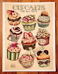 Old School rockabilly Tattoo Art   the berry vintage cupcakes tattoo art painting