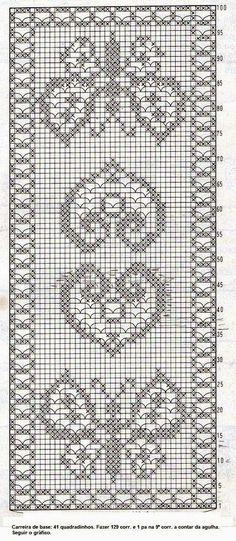 ARTE EM CROCHÊ, TRICÔ E ARTESANATOS: Gráficos para crochê filé