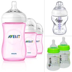 7 Best New Baby Bottles 2013. Zena used the top right and the center turns red when it's too hot! Comes in handy!