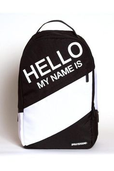 'Hello My Name Is' Backpack.