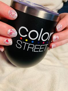 Layered Color Street's Love Letter with their limited edition Candied Lavender for some extra sparkle! Dry nail polish gave me a new mani 15 minutes before walking out thr door. #colorstreet #nails #valentines #manicure #love #selfcare #mani Dry Nail Polish, Manicure, Nails, Color Street, All The Colors, Free Gifts, Stitch Fix, Lavender, Give It To Me