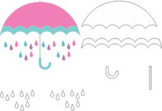 Molde Chuva de Amor EVA - Feltro e Artesanatos 3 Felt Crafts, Diy And Crafts, Paper Crafts, Cloud Party, Quiet Book Templates, Board Decoration, Baby Shoes Pattern, Unicorns And Mermaids, Felt Quiet Books