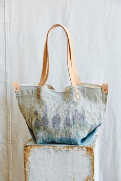 Arden + James Dip-Dyed Linen Tote Bag
