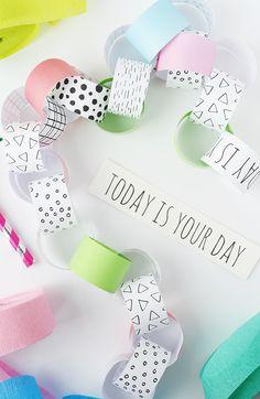 FREE printable Birthday Countdown Paper Chain