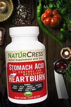 NaturCress is garden cress seed and zinc in fast-acting capsules for safe, drug-free relief. Made in USA. Money-back guarantee and free shipping. Natural Heartburn Relief, Taco Pizza, Acidic Foods, Coffee Wine, Cress, Stomach Acid, Drug Free, Natural Remedies, Herbalism