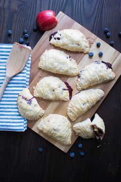 Apple Blueberry Hand Pies + Maple-Brown Sugar Glaze | Orchids + Sweet Tea